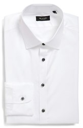 Men's Sand Trim Fit Solid Stretch Dress Shirt