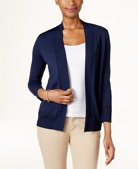 Charter Club Open Front Cardigan Only At Macy's Intrepid Blue