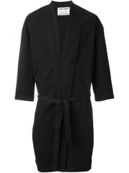 Henrik Vibskov 'Chock Long' Single Breasted Coat Black