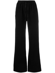 Andrea Ya'aqov Drawstring Flared Trousers Black