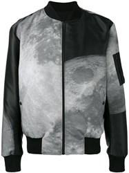 Christopher Raeburn Moon Print Reversible Bomber Jacket Black