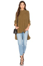 Free People Spin Around Poncho Top Green