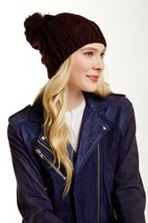 Lava Cable Knit Pom Hat Brown