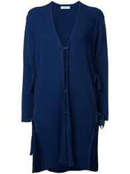 En Route Lace Up Cardigan Women Cotton One Size Blue