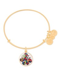 Alex And Ani Art Infusion Romero Britto Butterfly Expandable Wire Bangle Gold