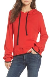 Pam And Gela Women's Hollywood Tipped Hoodie Formula 1 Red