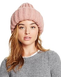 Federica Moretti Ribbed Knit Hat Pink