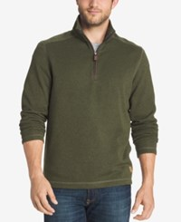 G.H. Bass And Co. Men's Big And Tall Zip Neck Fleece Sweater Cypress Heather