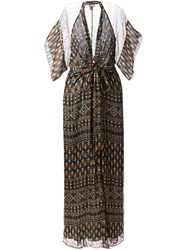 Issa Aztec Print Maxi Dress Multicolour