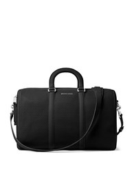 Michael Michael Kors Libby Large Perforated Leather Gym Bag Black