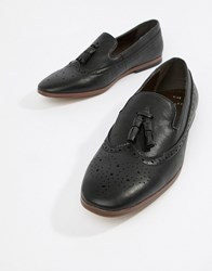 New Look Faux Leather Loafers With Embossed Detail In Black