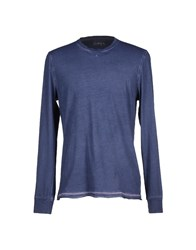 Alpha Studio Topwear T Shirts Men Dark Blue