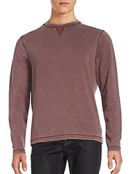 Saks Fifth Avenue Burn Out Crewneck Pullover Navy