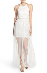 Women's A. Drea Embellished Halter Gown