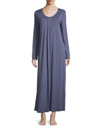 Hanro Alessia Long Nightgown Cozy Blue Cosy Blue
