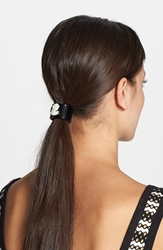 L. Erickson 'Cameo Cuff' Ponytail Holder Black