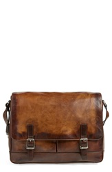 Frye 'Oliver' Leather Messenger Bag Dark Brown