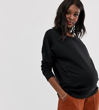New Look Maternity Classic Sweatshirt Black
