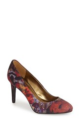 Women's Nine West 'Handjive' Almond Toe Pump Red Multi