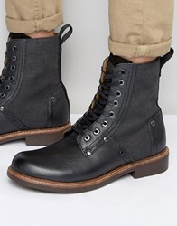 G Star Labour Lace Up Leather Boots Black