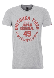 Onitsuka Tiger By Asics Onitsuka Tiger Crest Print Tshirt Heather Grey