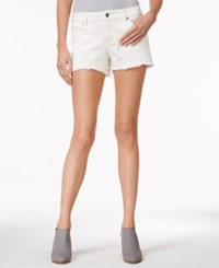 Armani Exchange Colored Wash Cutoff Shorts A Macy's Exclusive White