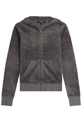 Juicy Couture Paradise Velour Hoodie Grey