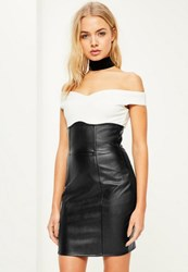 Missguided Black Faux Leather Super High Waisted Mini Skirt