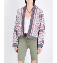 Free People Dolman Cotton Blend Jacket Pink
