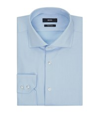 Boss Regular Fit Easy Iron Shirt Male Blue