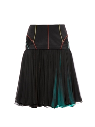 Sophie Theallet Dropped Waist Pleated Skirt