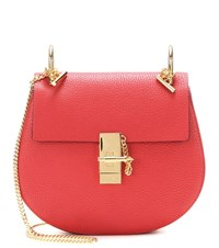 Chloe Drew Small Leather Shoulder Bag Red