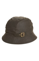 Barbour Women's Waxed Cotton Trench Hat Green Olive