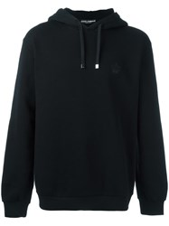 Dolce And Gabbana Embroidered Crown Hoodie Black
