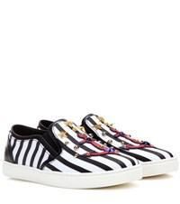Dolce And Gabbana Striped Slip On Sneakers Multicoloured