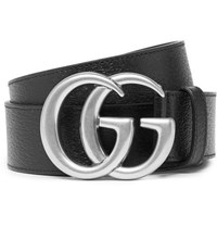 Gucci 4Cm Full Grain Leather Belt Black