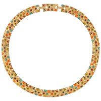 Susan Caplan Vintage 1970S D'orlan 22Ct Gold Plated Faux Pearl And Swarovski Crystal Collar Necklace Multi