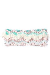 Missoni Embellished Crochet Knit Headband White