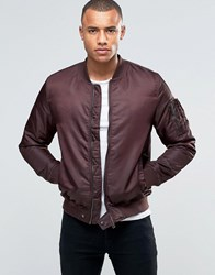 Brave Soul Ma1 Bomber Jacket Red