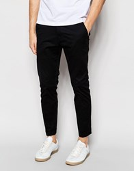 Dr. Denim Dr Denim Slim Tapered Diggler Chino With Turn Up In Black Black