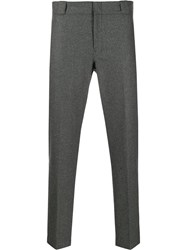 Prada Cropped Tailored Trousers Grey