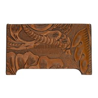 Our Legacy Brown Engraved Flowers Distorted Card Holder