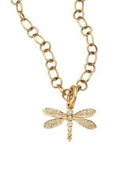 Temple St. Clair Tree Of Life Diamond And 18K Yellow Gold Dragonfly Enhancer