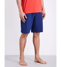 Hanro Cotton Shorts Cobalt