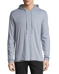 Vince Double Layer Pullover Hoodie Arctic H Steel