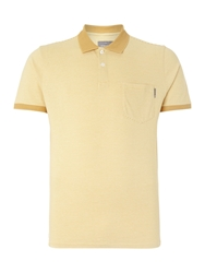 Peter Werth Orwell Stripe Slim Fit Polo Shirt Yellow