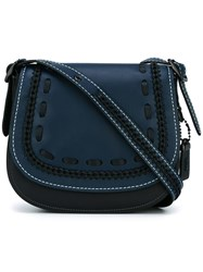 Coach Stitching Detail Saddle Bag Black