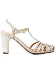 Chie Mihara Strappy Pumps Leather Grey