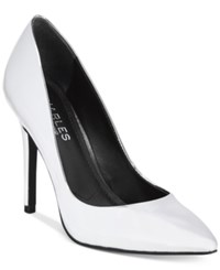 Charles By Charles David Pact Leather Pumps Women's Shoes Silver Speccio