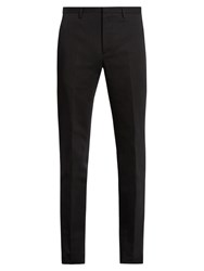 Calvin Klein Crosby Slim Leg Cotton And Linen Blend Trousers Black